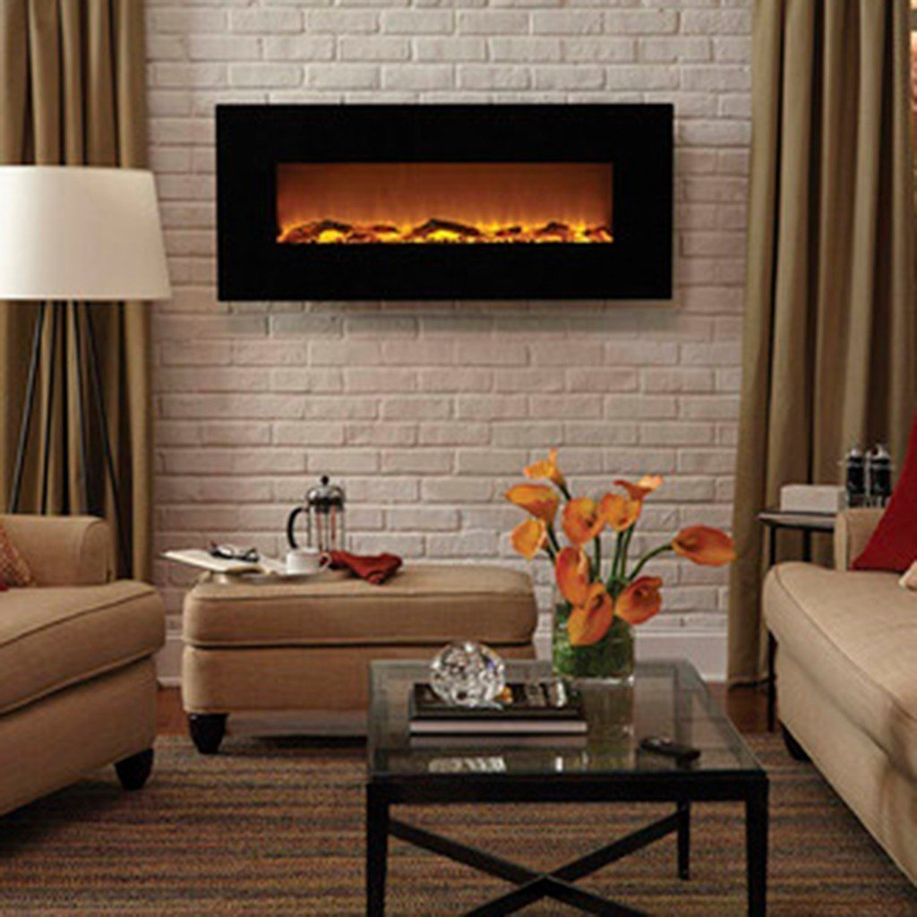 "Touchstone Onyx 80001 50"" Wall Mounted Electric Fireplace"