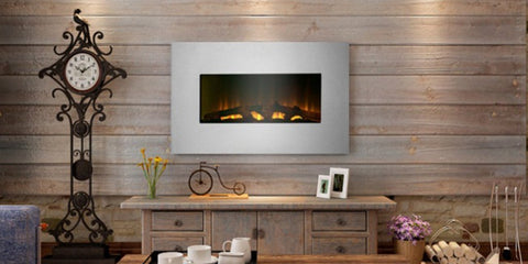 "Touchstone Duo 80020 Stainless 36"" Wall Mounted Electric Fireplace"