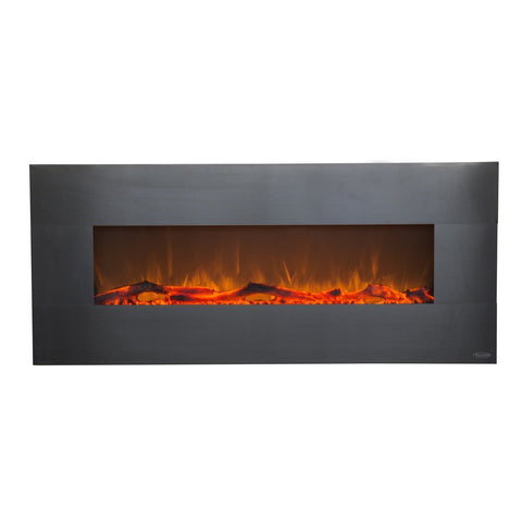 "Touchstone Onyx Stainless 80026 50"" Wall Mounted Electric Fireplace"