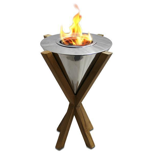 "Anywhere Fireplace Southampton Teak 12"" 90232 Gel Fireplace"