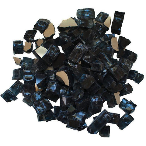 Amantii Charcoal Reflective Fire Glass - 5 lbs. - AMSF-GLASS-03 - eFireplaceDirect.com