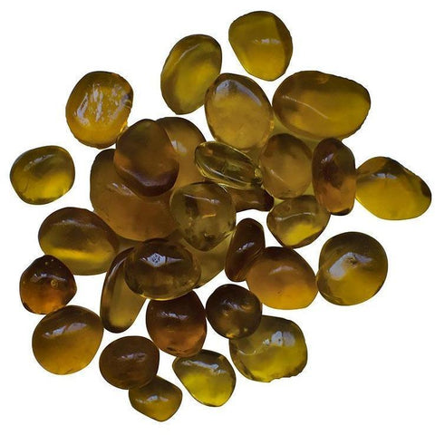Amantii Amber Small Bead Fire Glass - 5 lbs. - AMSF-GLASS-09 - eFireplaceDirect.com