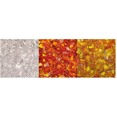 Amantii 3 Colors of Decorative Fire Glass Media - Hz-12-Ember - eFireplaceDirect.com