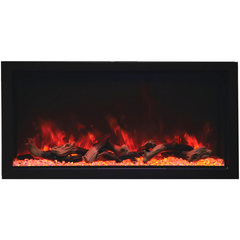 Remii Extra Tall Indoor/Outdoor Frameless Built-in Electric Fireplace - eFireplaceDirect.com