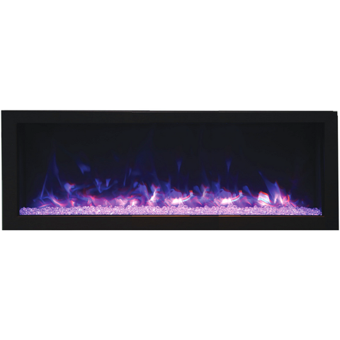 Remii Deep Full Flame Indoor/Outdoor Frameless Built-in Electric Fireplace - eFireplaceDirect.com