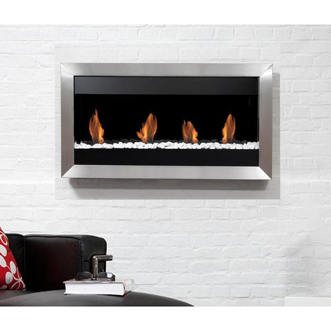 Bio Blaze Square Large I Wall Mounted Bio-Ethanol Fireplaces - eFireplaceDirect.com