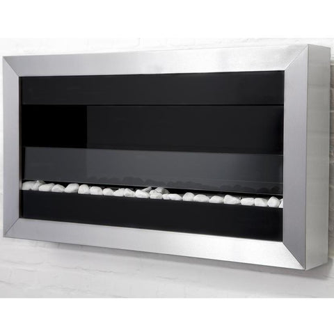 Bio Blaze Square Large II Wall Mounted Bio-Ethanol Fireplaces - eFireplaceDirect.com