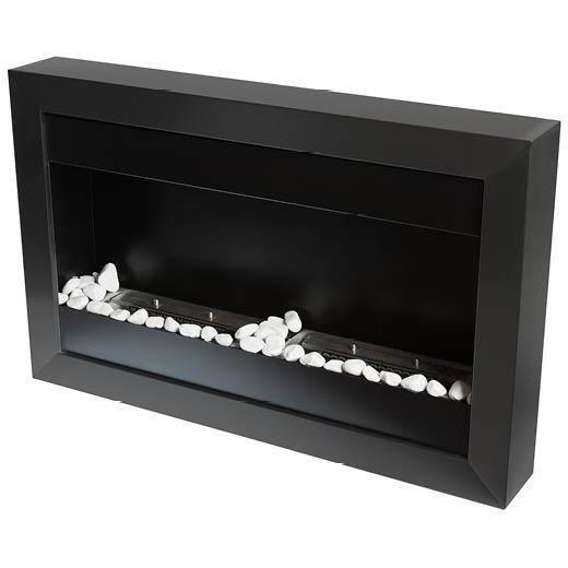 Bio Blaze Square Small II Wall Mounted Bio-Ethanol Fireplaces - eFireplaceDirect.com