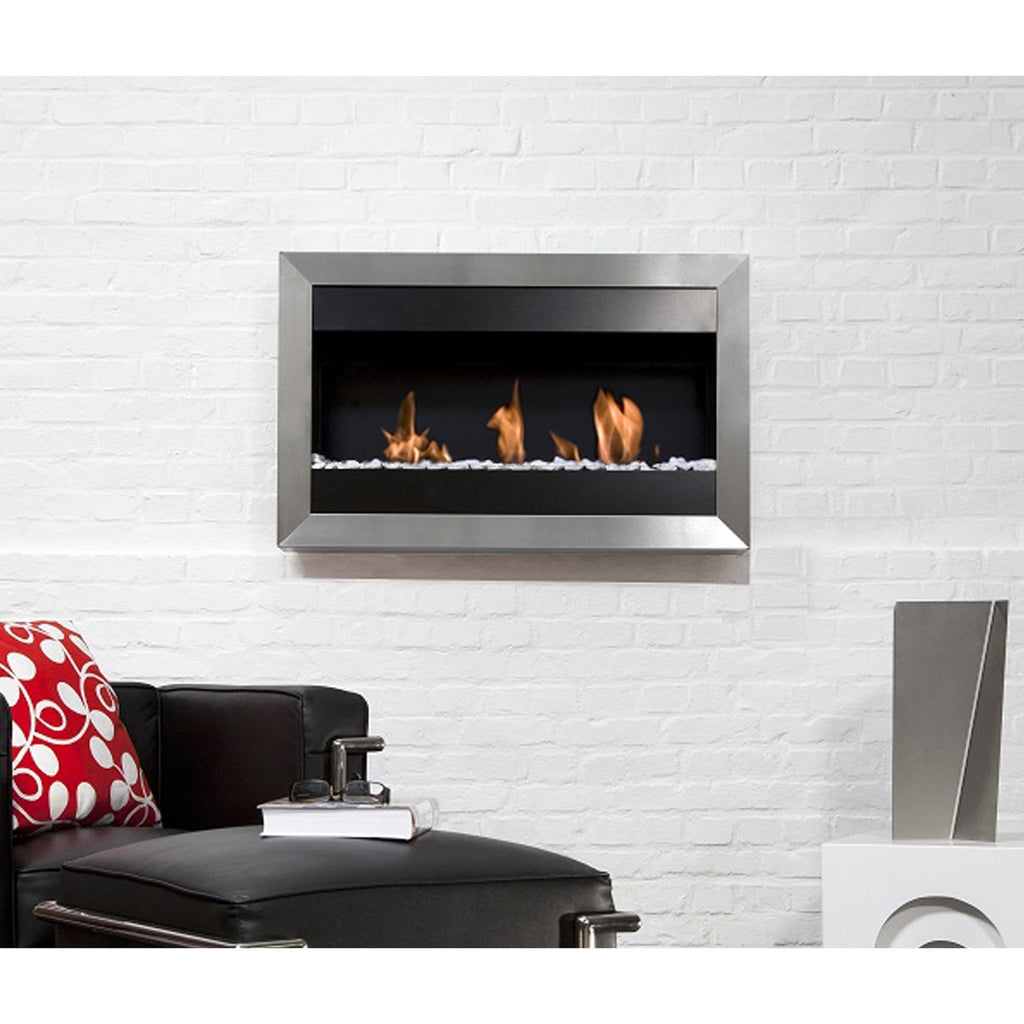 Bio Blaze Square Small I Wall Mounted Bio-Ethanol Fireplaces - eFireplaceDirect.com