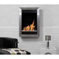 Bio Blaze Square Vertical Wall Mounted Bio-Ethanol Fireplaces