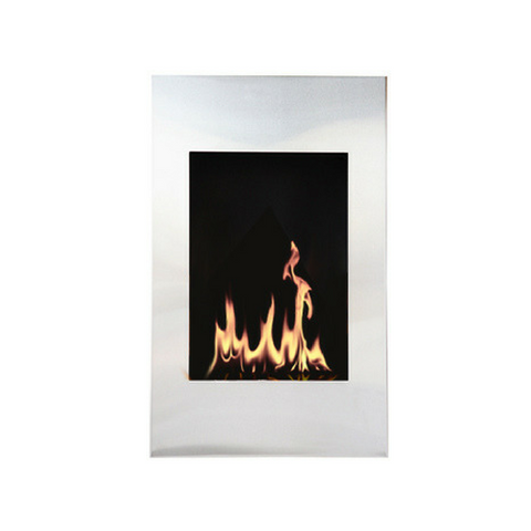 "The Bio Flame Xelo - 19"" W x 31"" H Wall Mounted Ethanol Fireplace, UL Listed"