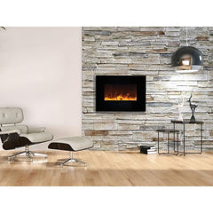 Amantii Wall Mount / Flush Mount Series-WM-FM-26-3623-BG Wall Mount Electric Fireplace