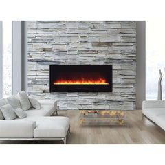 Amantii Wall Mount / Flush Mount Series-WM-FM-50-BG Wall Mount Electric Fireplace
