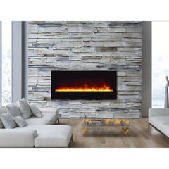 Amantii Wall Mount / Flush Mount Series-WM-FM-50-BG-NOLOG Wall Mount Electric Fireplace