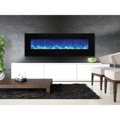 Amantii Wall Mount / Flush Mount Series-WM-FM-60-7023-BG Wall Mount Electric Fireplace