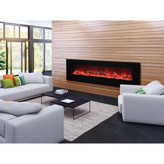 Amantii Wall Mount / Flush Mount-WM-FM-72-8123-BG Built-In Electric Fireplace