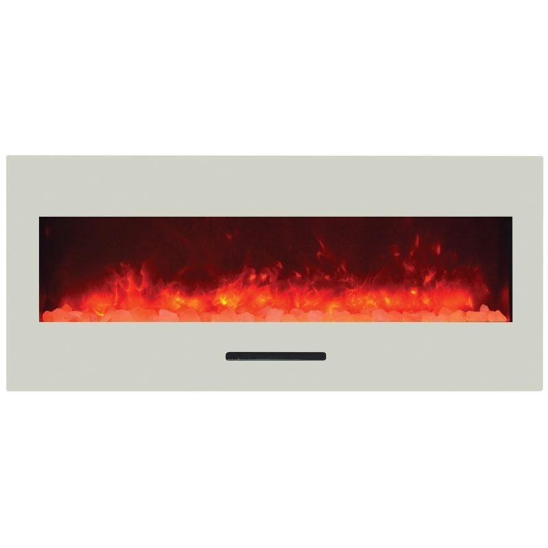 Amantii Wall Mount / Flush Mount Series-WM-FM-50-BG-NOLOG-Wall Mount Electric Fireplaces - eFireplaceDirect.com