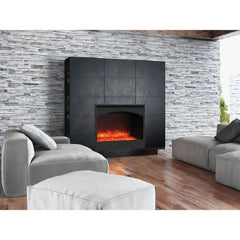 Amantii Zero Clearance Arched Series ZECL-31-3228-STL-ARCH Built-In Electric Fireplace