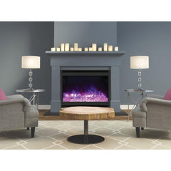 Amantii Zero Clearance Square Series ZECL-31-3228-STL-SQR Built-In Electric Fireplace