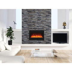 Amantii Zero Clearance Series ZECL-33-3624-BG Built-In Electric Fireplace