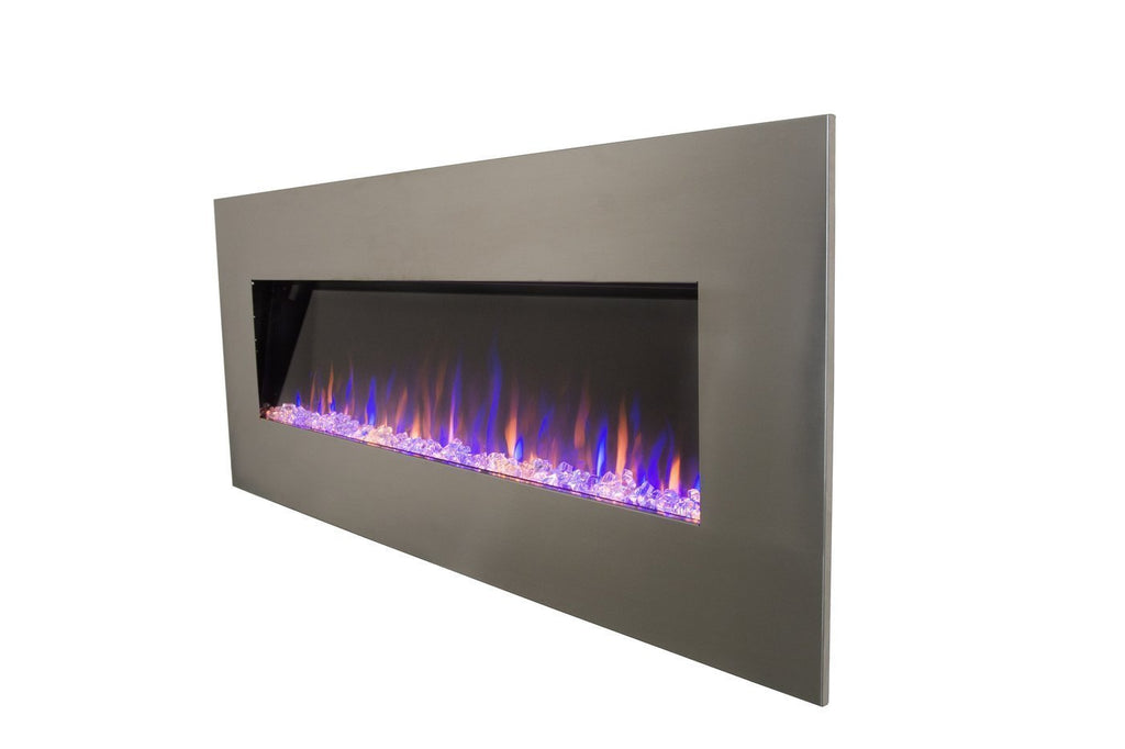 "Touchstone AudioFlare 80024 Stainless 50"" Recessed Electric Fireplace"