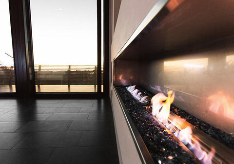 "The Bio Flame 72"" Ethanol Firebox SS"