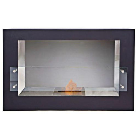 "The Bio Flame Argento Single Sided - 44"" Free Standing Ethanol Fireplace"