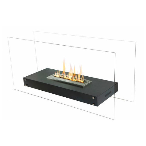 "The Bio Flame Evoque - 35"" Free Standing Glass Ethanol Fireplace"