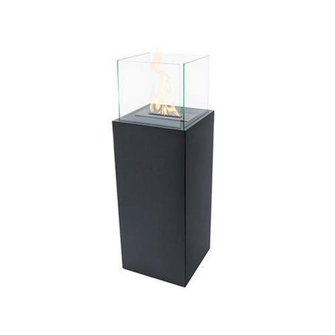 "The Bio Flame Torch 2.0 - 39"" Tall Free Standing Ethanol Fireplace-Column"