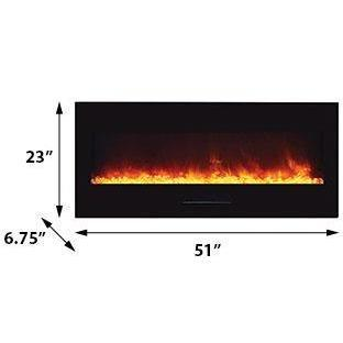 Amantii Wall Mount / Flush Mount Series-WM-FM-50-BG-Wall Mount Electric Fireplaces - eFireplaceDirect.com
