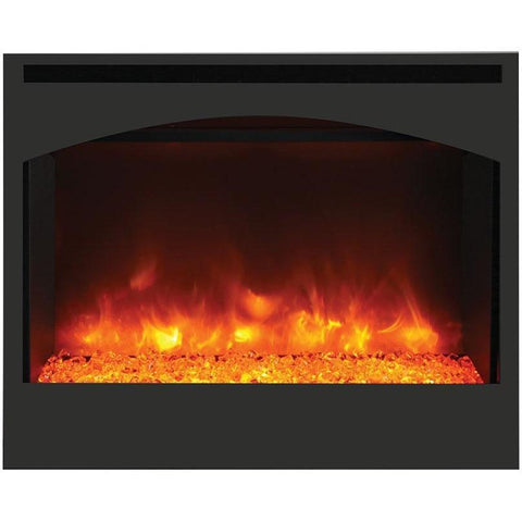 Amantii Zero Clearance Arched Series -ZECL-31-3228-STL-ARCH-Built-In Electric Fireplaces - eFireplaceDirect.com