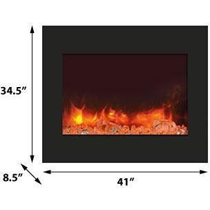 Amantii Zero Clearance Series-ZECL-39-4134-BG-Built-In Electric Fireplaces - eFireplaceDirect.com