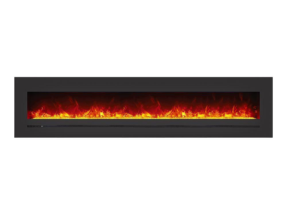 Siera Flame Wall Mount / Built-in Series WM-FML-88-9623-STL Electric Fireplace