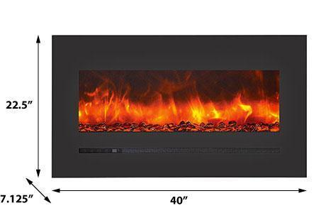 Siera Flame Wall Mount / Built-in Series WM-FML-34-4023-STL Electric Fireplace