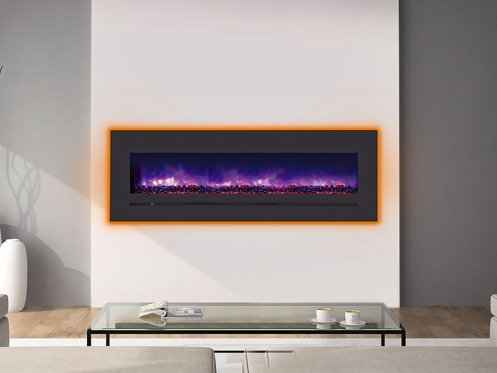 Siera Flame Wall Mount / Built-in Series WM-FML-60-6623-STL Electric Fireplace