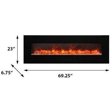 Amantii Wall Mount / Flush Mount Series-WM-FM-60-7023-BG-Wall Mount Electric Fireplaces - eFireplaceDirect.com