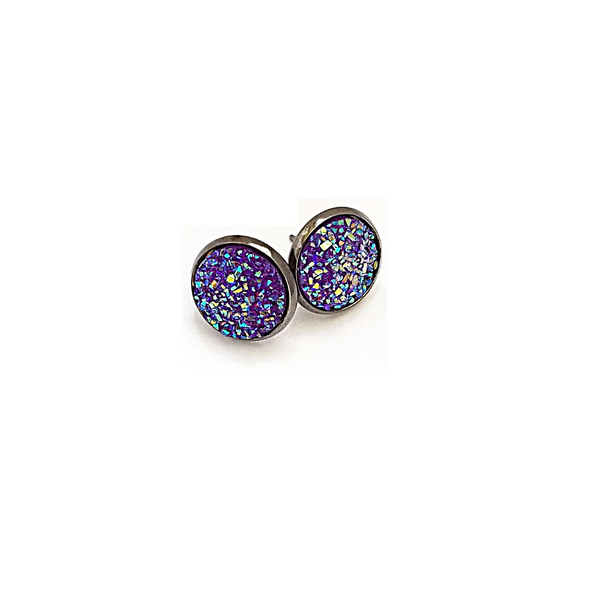 Purple Icing Druzy-Style Studs - Avery + Emory Designs