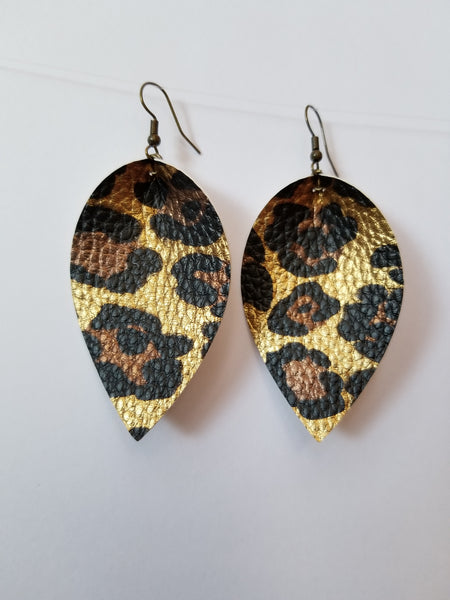 Leopard Petal Earrings - Avery + Emory Designs