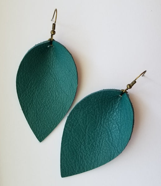 Featured Product: Genuine Leather Teal Petals for Ovarian Cancer Awareness Month - Avery + Emory Designs