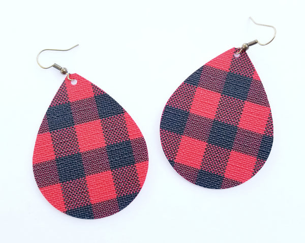 Buffalo Plaid Teardrop Earrings - Avery + Emory Designs