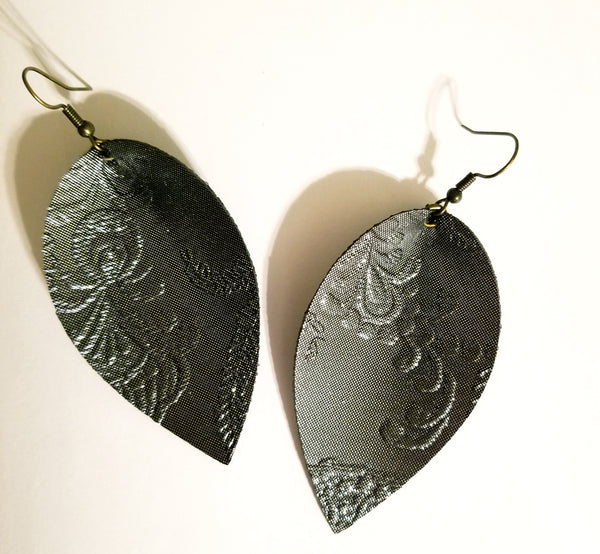 NYE Ball Drop Petal Earrings in Charcoal - Avery + Emory Designs
