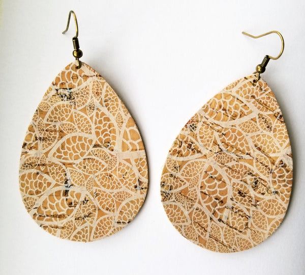 Cork Lace Faux Leather Teardrops - Avery + Emory Designs