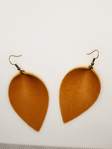 Genuine Leather Burnt Orange Petals - Avery + Emory Designs
