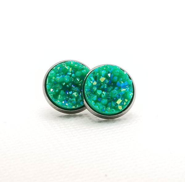 Emerald Druzy-Style Studs - Avery + Emory Designs