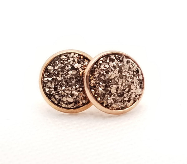 Rose Gold Druzy-Style Studs - Avery + Emory Designs