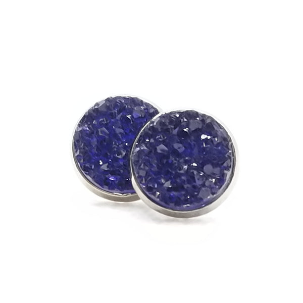 Deep Navy Druzy-Style Studs - Avery + Emory Designs