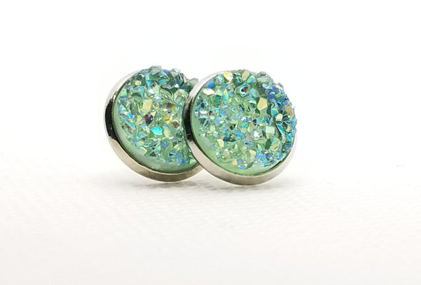 Mint Druzy-Style Studs - Avery + Emory Designs