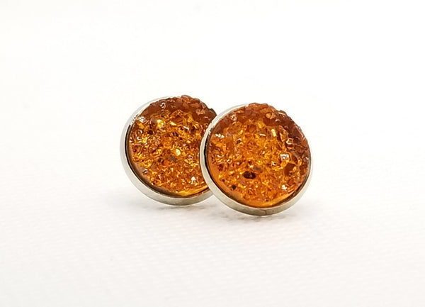 Orange Druzy-Style Studs - Avery + Emory Designs