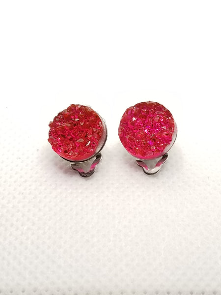 Girls' Clip On Earrings | 12 mm Druzy Studs - Avery + Emory Designs