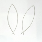Sterling Silver Threader Open Hoop Earrings - Avery + Emory Designs